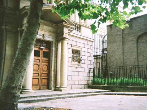 Classical Door with Corinthian Pillars