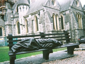 Homeless sculpture in Christchurch